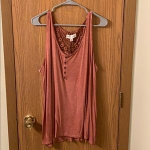 Knox rose flowy tank top